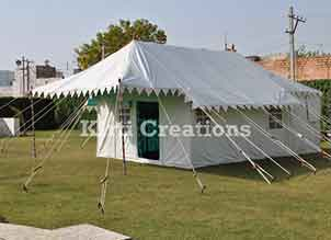 Atmospheric Swiss Cottage Tent