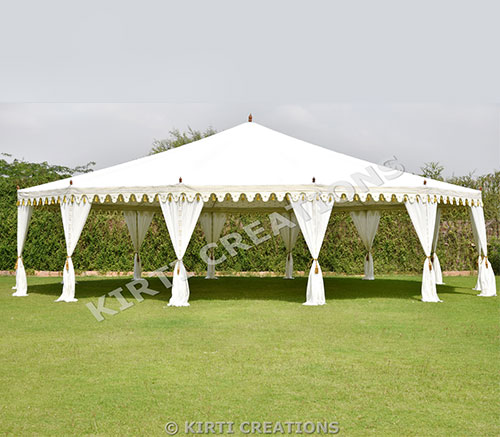 Italian Canvas Tent Veranda Decorated In Different Styles: Raj Tents, Maharaja Tents, Indian Tents, Luxury Tents, Marquee